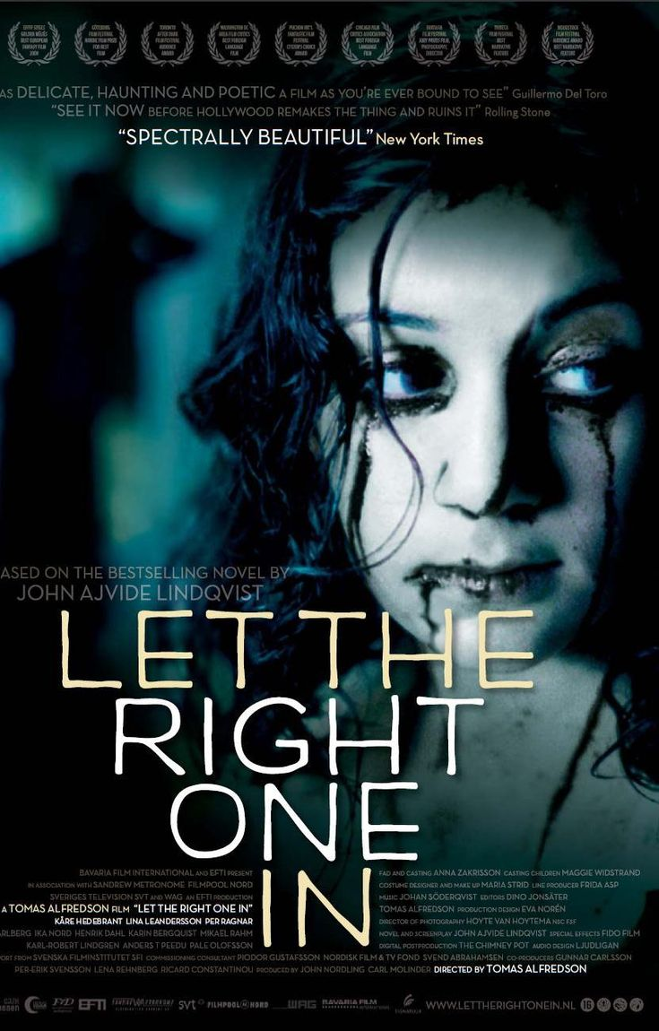 Let The Right One In (2008) by Tomas Alfredson ♥♥♥♥♡ Oskar, an overlooked and bullied boy, finds love and revenge through Eli, a beautiful but peculiar girl who turns out to be a vampire