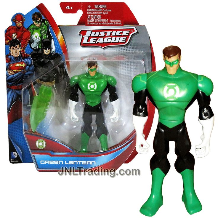 Mattel Year 2013 DC Justice League Series Exclusive 5 Inch Tall Action Figure - GREEN LANTERN (Hal Jordan) with Hard Light Sword