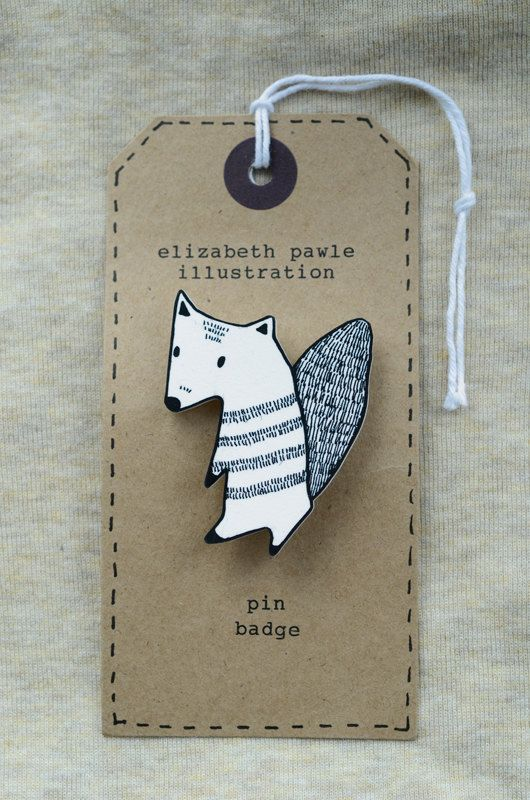 Friendly autumn squirrel brooch - by elizabeth pawle - modern design - hand…