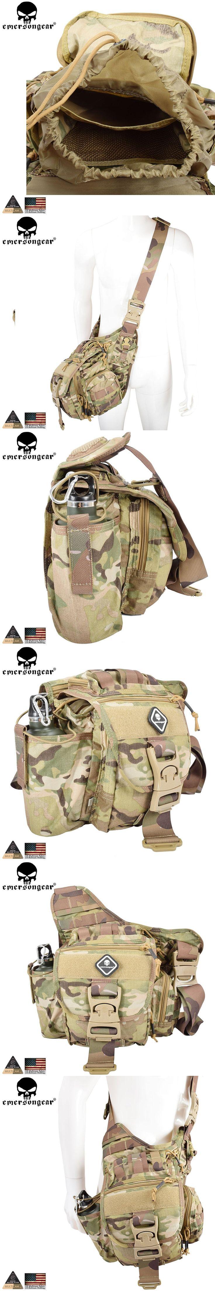 EMERSONGEAR Jumbo Versipack Tactical Sling Pack  Recon Military Tactical Gear Bag  Multicam Black Khaki EM8345