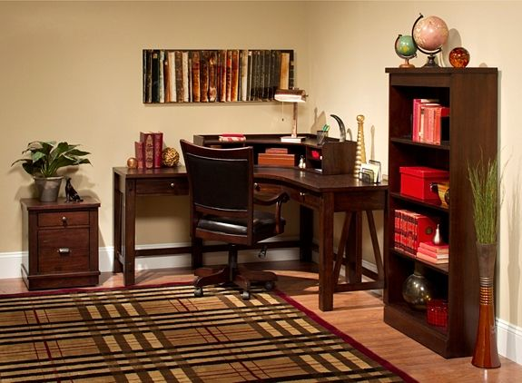 Castlewood 2 Pc Desk And Hutch Office Desks Raymour