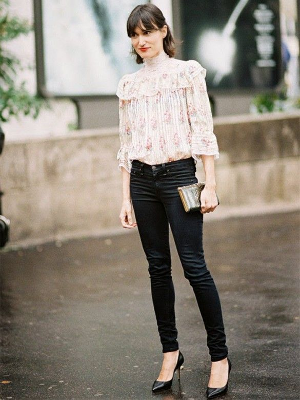 Tip of the Day: How to Make a Victorian Top Look Modern via @WhoWhatWear //