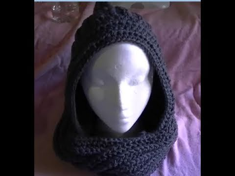How to crochet a Easy Scoodie Part 1 of 2 Scarf/Hoodie Seconda parte : http://www.youtube.com/watch?v=7Ww3GDxFQrg=relmfu