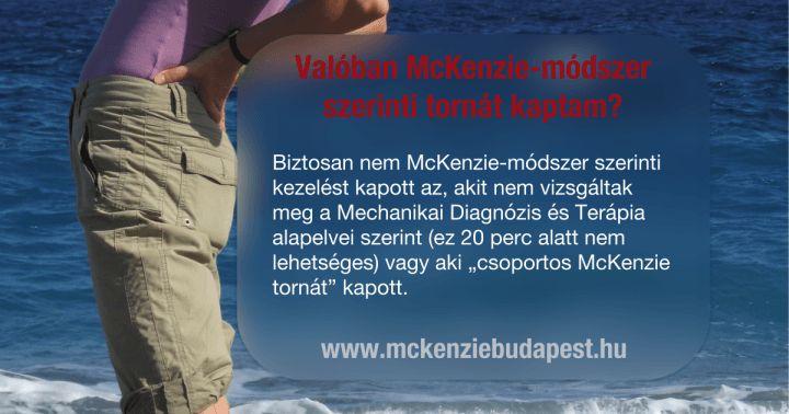 """A McKenzie """"torna"""" egyénre szabott kezelés!"""