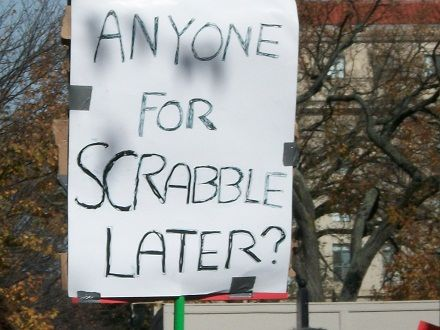 Anyone for scrabble later?