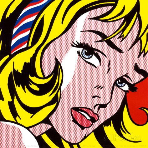 Girl with Hair Ribbon, c.1965 Posters by Roy Lichtenstein at AllPosters.com