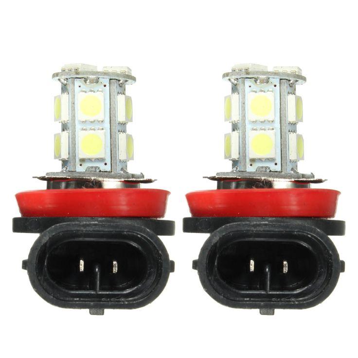Par súper blanco 6000k h11 h8 h9 LED faros de niebla del coche DRL luz de conducción focos de las luces