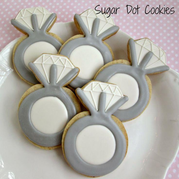 Sugar Dot Galletas: Anillo de compromiso Galletas