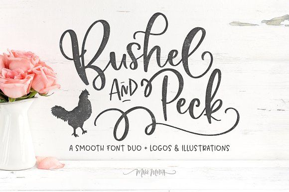 Bushel & Peck Fonts & Logos by Callie Hegstrom on @creativemarket