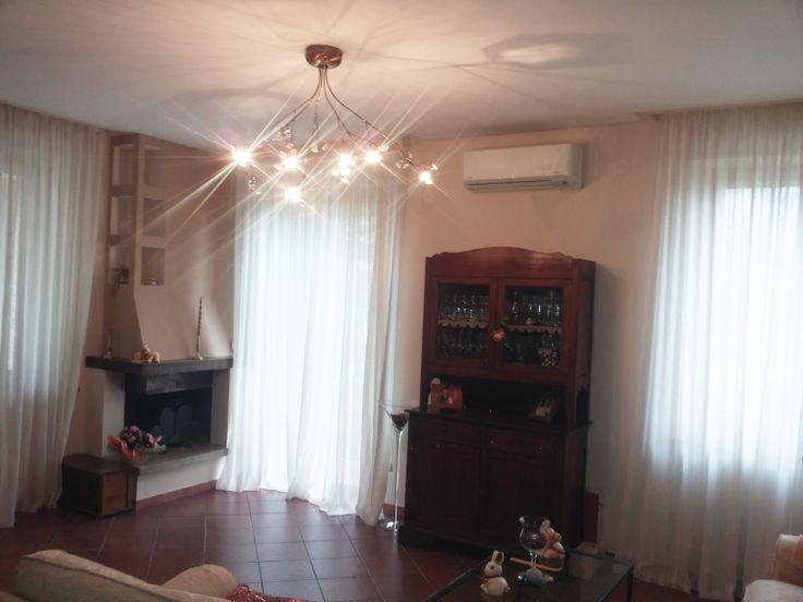 Pompa di calore in sala per stare al calduccio d'inverno e al fresco d'estate!