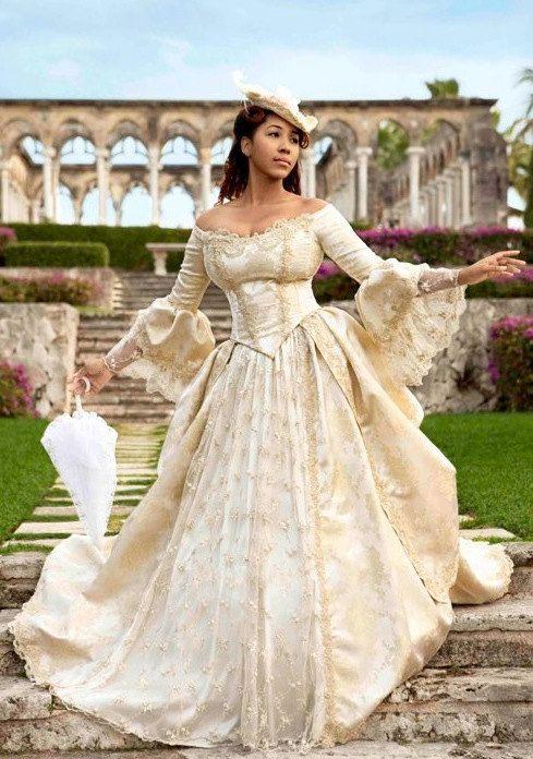 Ultimative Fantasy Marie Antoinette Lace Sparkle zurück Gown Custom