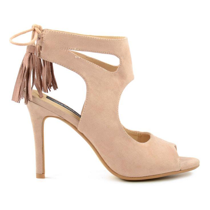 Peeptoe sandalen met hak