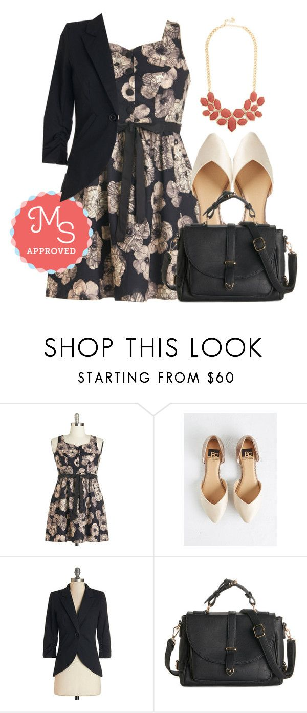 """Roomie Reunion Dress"" by modcloth ❤ liked on Polyvore featuring BC Footwear, WorkWear, outfits and modcloth"