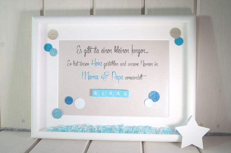 Weiteres - Bild zur Geburt oder Taufe mit Scrabble-Buchstaben - ein Designerstück von KuestenGlitzer bei DaWanda