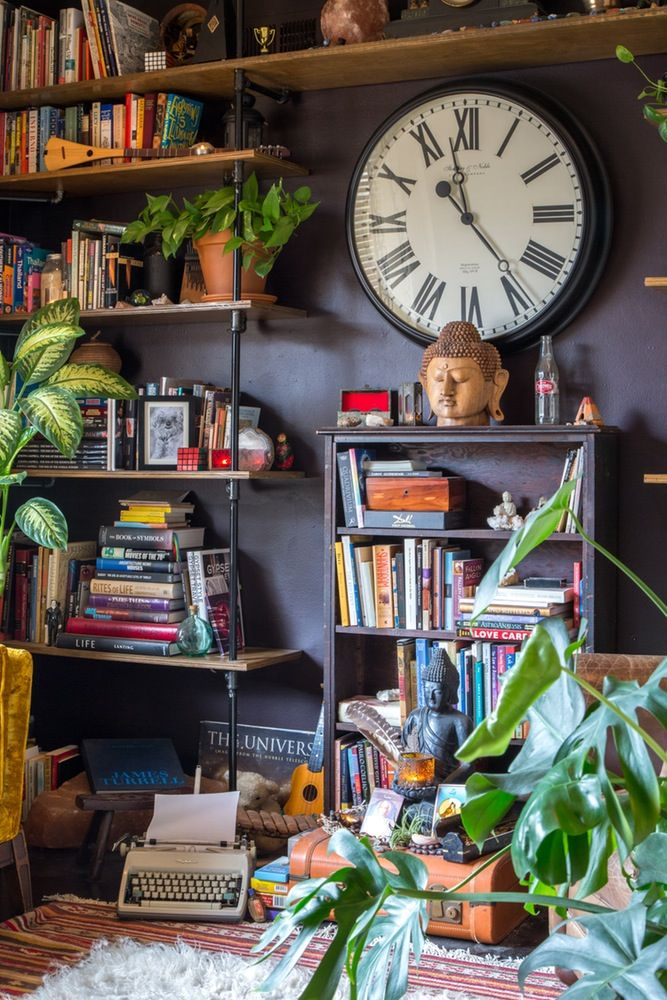 Make room for lots of books (and plants)