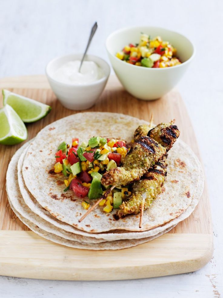 Fish kebabs with avocado salsa | The Heart Foundation