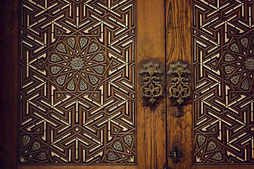 Beauty of Arabic patterns and hand made wood work