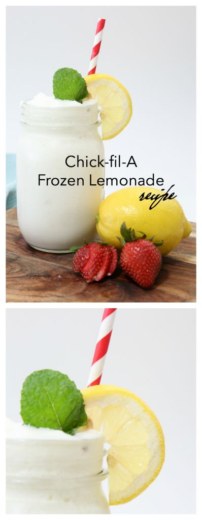 Drink Ideas| Copycat chick-fil-a frozen lemonade recipe- Perfect summer drink for your BBQ.