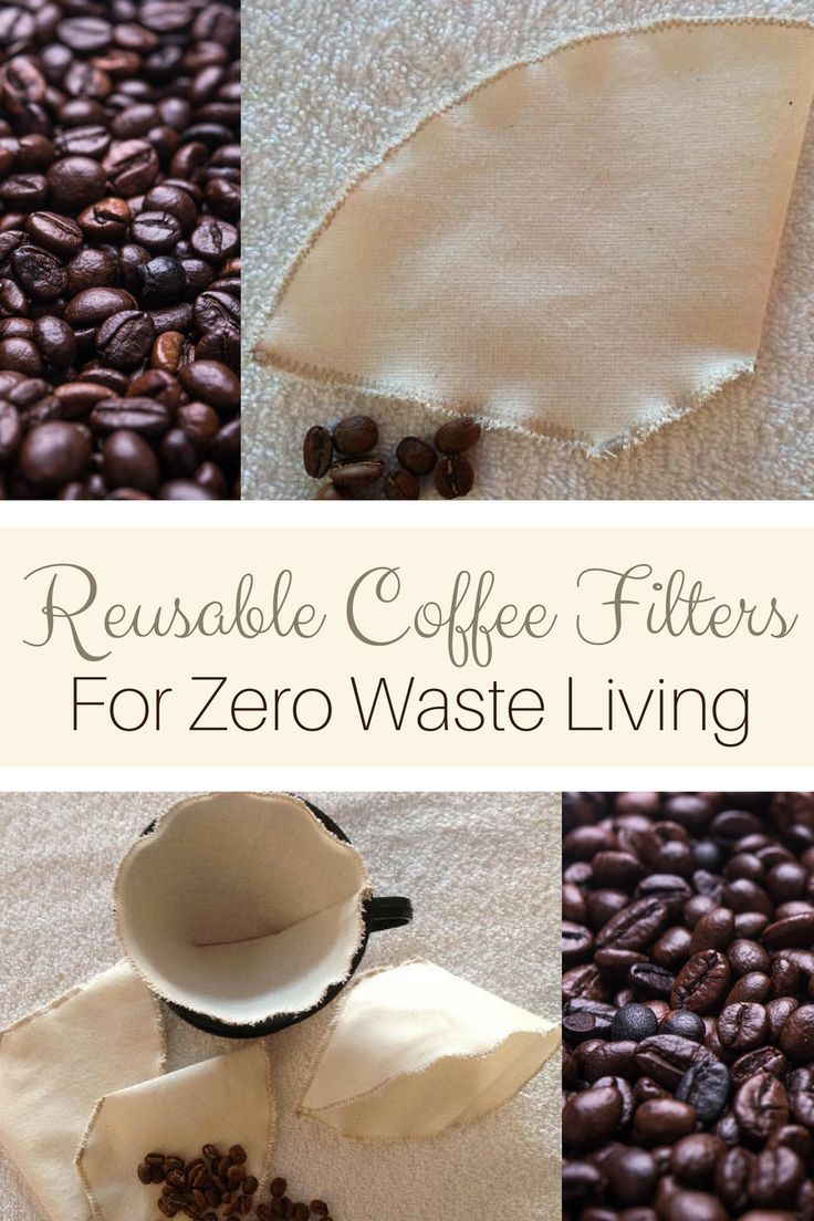 Replace single use coffee filters with this Organic Cotton Reusable Coffee Filter. Such a simple swap to less waste. When it's worn out just throw in the compost. #zerowaste #coffeetime #coffee #ad