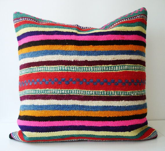 Turkish Antique Kilim Pillow Cover