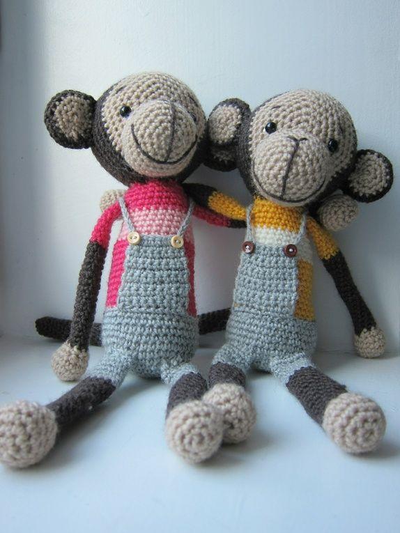 Nå kan du også lage disse superherlige apebamsene! Det du kjøper her er en OPPSKRIFT, ikke selve bamsene på bildet. ...