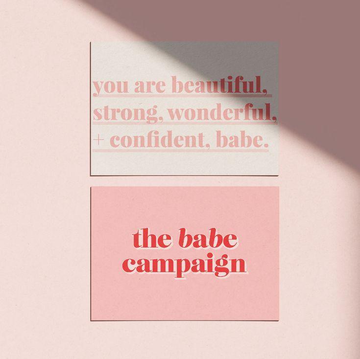 The Babe Campaign branding design, logo design, br…