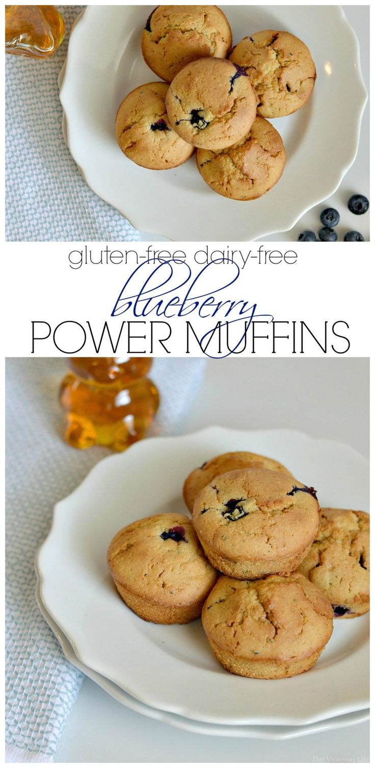 These gluten-free dairy-free blueberry power muffins are the perfect breakfast to fill your belly with good nutrition and give you the energy to make it through the day. They are delicious and super soft. @goodkarmafoods #spon | gluten free breakfast ideas | gluten free breakfast recipes | healthy breakfast ideas | healthy breakfast recipes | gluten free recipes || This Vivacious Life