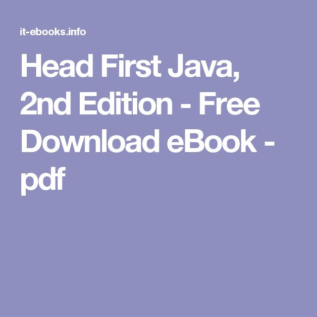 150 best java images on pinterest java java tutorial and cheat sheets head first java 2nd edition free download ebook pdf fandeluxe Image collections