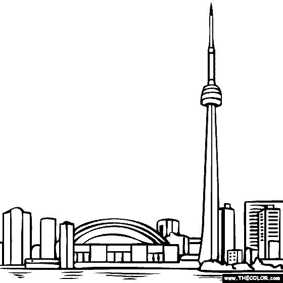 Kremlin coloring pages | CN Tower Toronto, Ontario, Canada Coloring Page