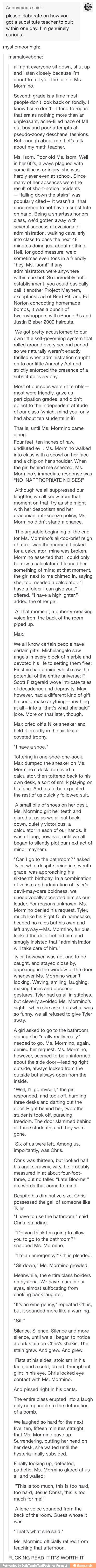THIS WAS REALLY LONG BUT OUT OF ALL THE REALLY LONG TUMBLR STORIES YOU SEE OUT THERE THIS IS BY FAR THE BEST