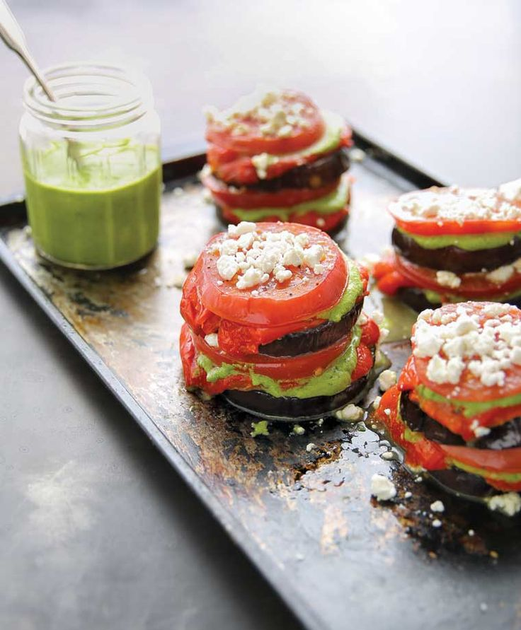 Roasted Zucchini Pesto Lasagna Stacks -- such a healthy recipe for dinner!