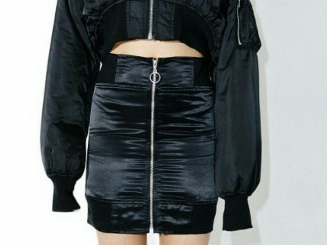 BOMBER SKIRT zipper bomber jacket skirt tight skirt black skirt black skirts bomber jackets bombers skirts skirt zipper skirts black zipper by rojasclothing on Etsy