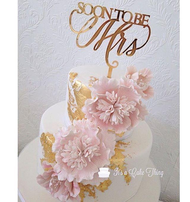Repost @itsacakethingcanada what a beautiful #showercake  for the #bridetobe  #soontobemrs #bridalshower #weddingcaketopper #customcaketopper #caketopper