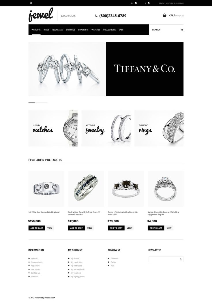 17+ Best Jewelry Store PrestaShop Themes - Jewelry Boutique