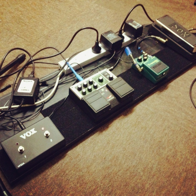 Amp footswitch and 3 FX pedals. 3. It's a magic number