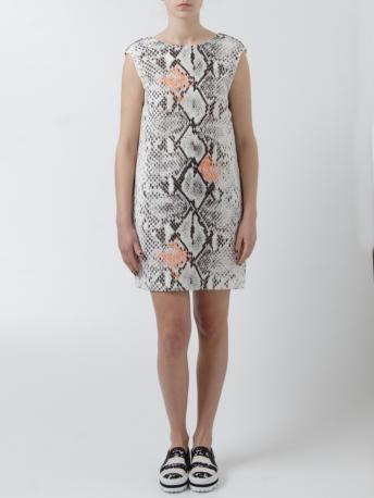MSGM-abitino stampa pitone-phyton print dress-MSGM Spring Summer 2014 shop online