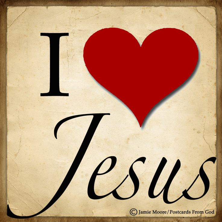 There is a Name I love to hear, I love to sing its worth; It sounds like music in my ear, The sweetest Name on earth.  O how I love Jesus, O how I love Jesus, O how I love Jesus, Because He first loved me!  (Fred­er­ick Whit­field, 1855)  https://www.facebook.com/PostcardsFromGod/