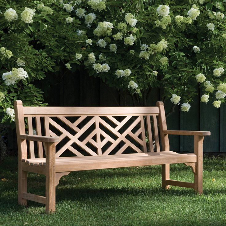 Accent your garden with this Chippendale style heirloom teak bench from Kingsley-Bate. Click to shop AuthenTeak online for teak garden benches in many shapes and styles.