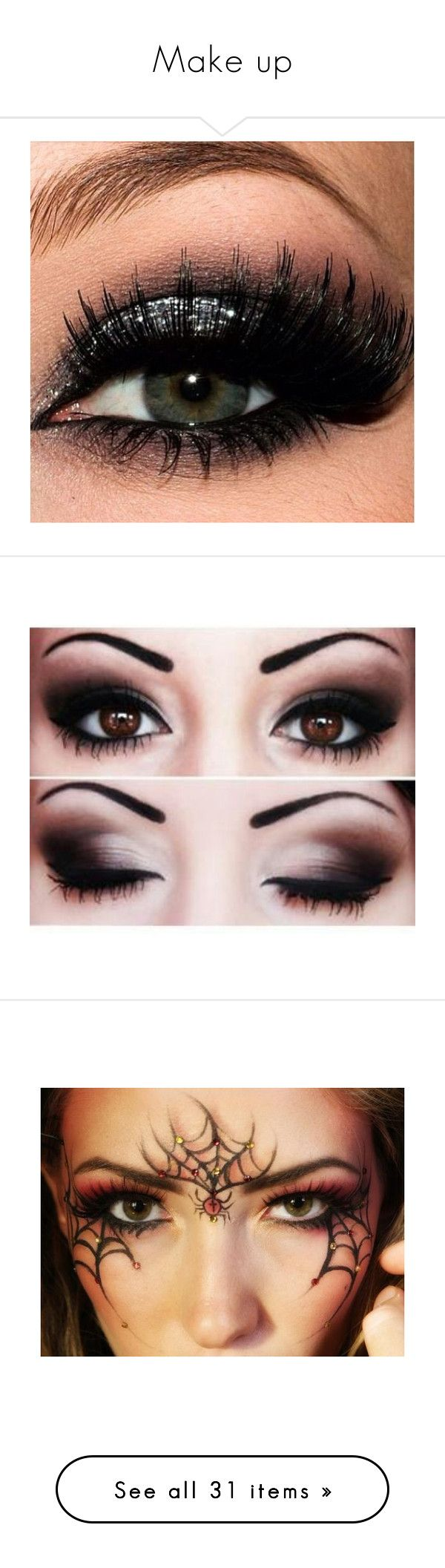"""""""Make up"""" by george-alban ❤ liked on Polyvore featuring makeup, beauty products, eye makeup, eyes, beauty, eyeshadow, images, costumes, black swan costume and angel costume"""