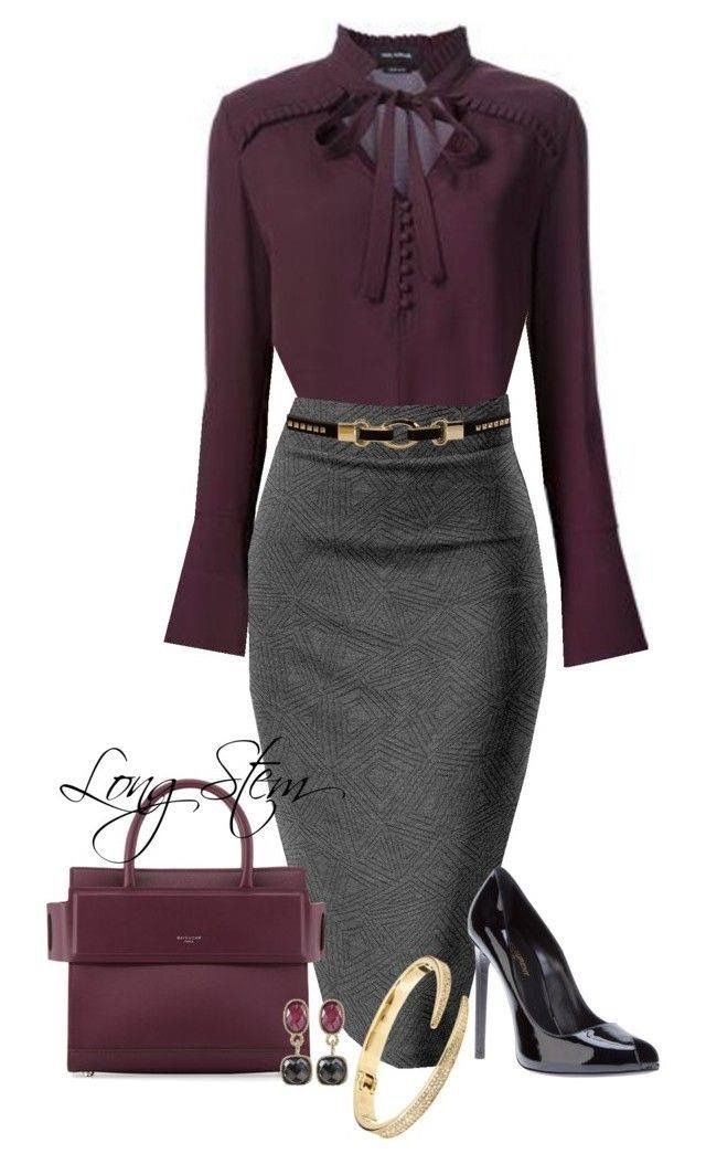 I really like the classy but sexy look of this outfit. Purple is one of my favor…