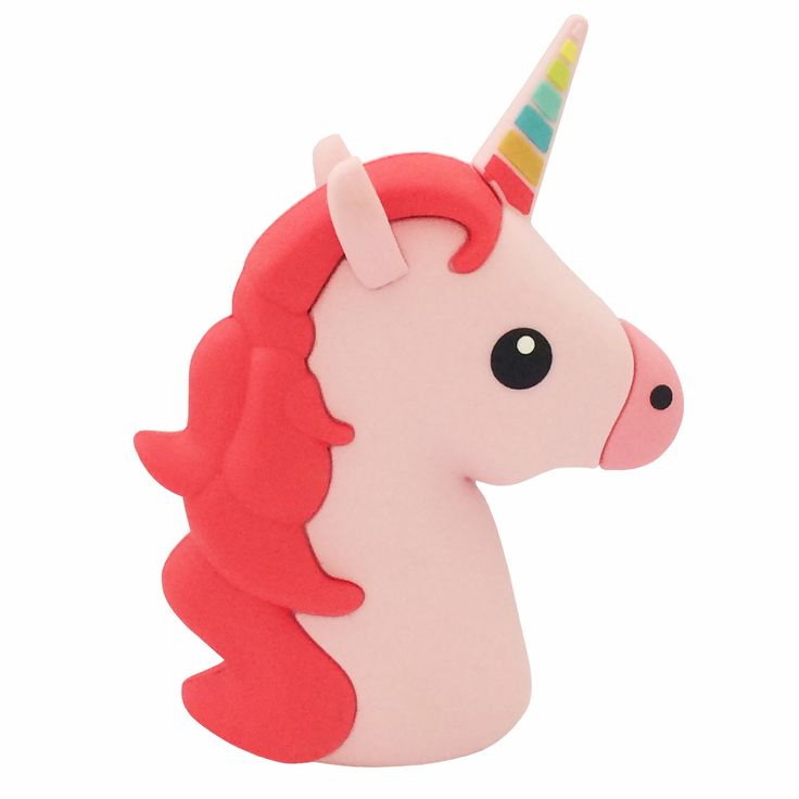 Never run out of power with this fab Majestic Unicorn emoji power bank charger — A fun and effective way to keep all your devices fully charged! Plug your iOS or Android devices charging cable directl