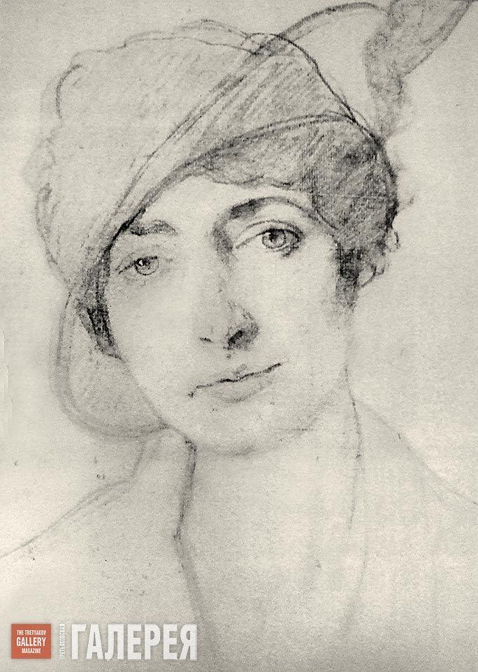 Бакст Леон. Портрет Алис Гаррет. 1910-е г. Бумага, карандаш. Собрание семьи…