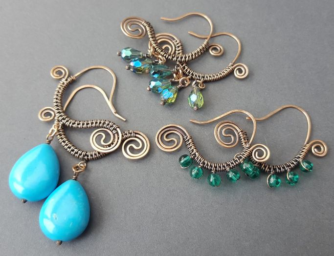 Wire-Wrapped Fish Hook Earrings with Laura Moradi #craftartedu