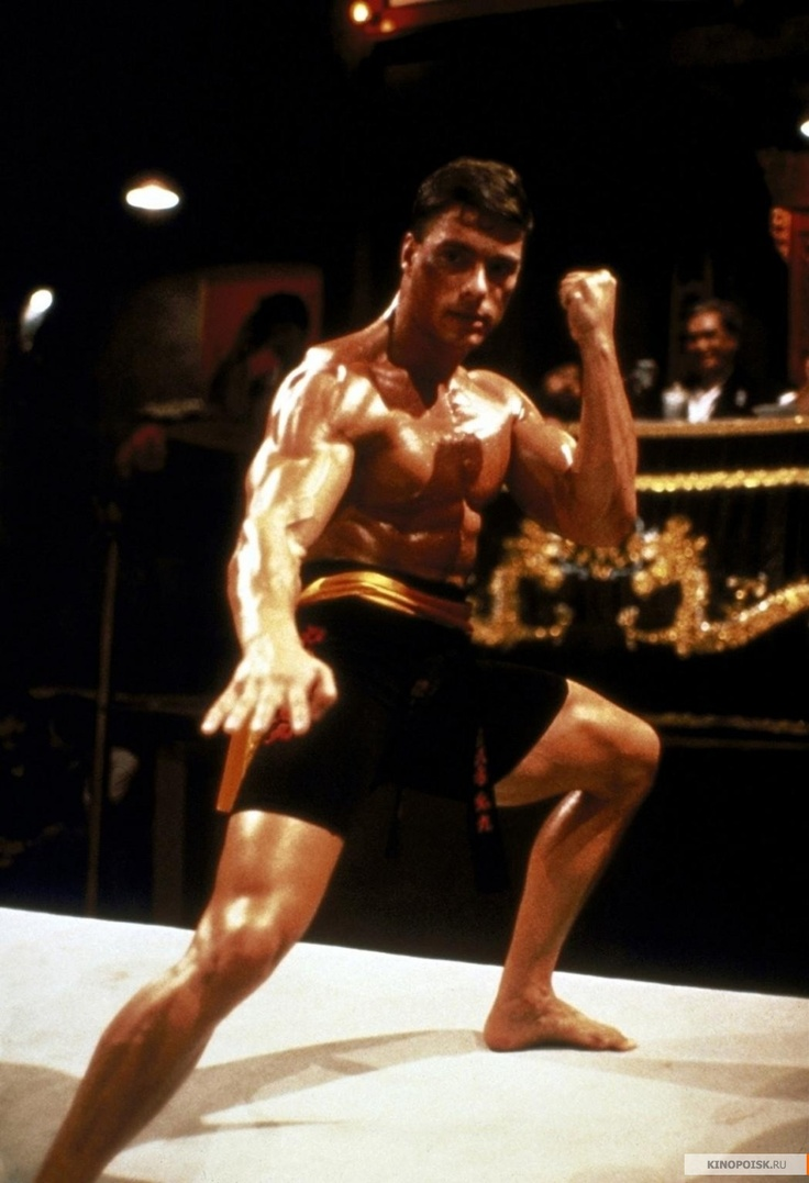 Jean Claude Van Damme ..Bloodsport ..    There is a bond between me and this movie and I love it.18/10