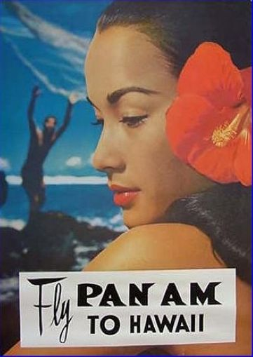 Pan Am poster, Hawaii