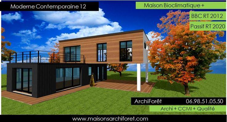 Maison Container Modulaire ossature bois d architecte constructeur