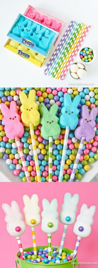 Quick & Easy Chocolate Dipped Peeps Pops #PEEPS #Easter #Pops