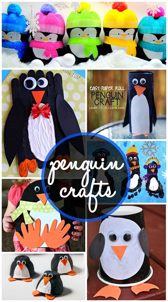 Creative Penguin Crafts for Kids to Make #Winter art project ideas! | CraftyMorning.com: