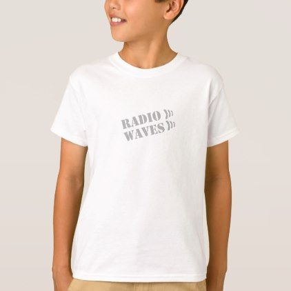 RADIO WAVES WHITE T-SHIRT - boy gifts gift ideas diy unique