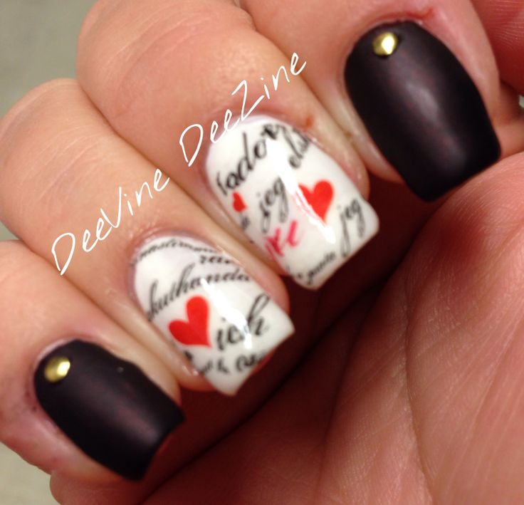 652 best nail art i 3 images on pinterest nail art nail art with nail decals by fingrs nail tattoos great for valentines day nail art prinsesfo Gallery